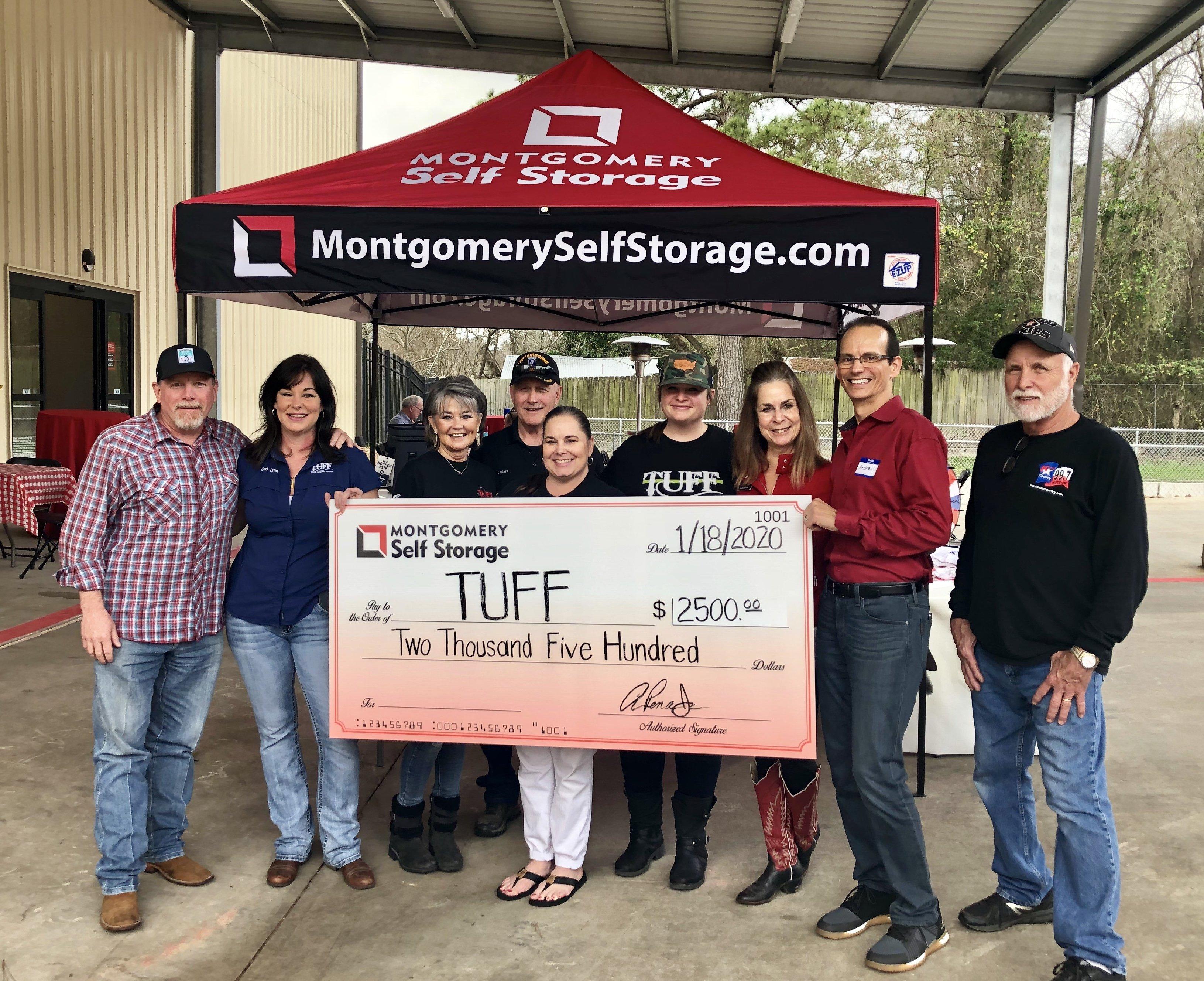 Montgomery Self Storage Conroe Location Supports TUFF